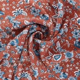 Tissu twill viscose Zina - terracotta x 10 cm