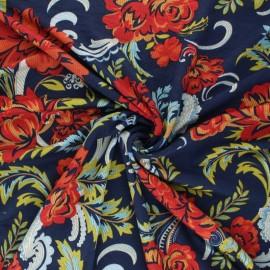 Tissu Jersey Viscose Ora - bleu marine x 10 cm