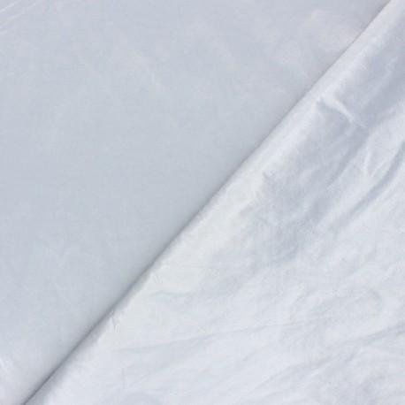 Crinkle vinyl fabric  - silver shiny x 10cm
