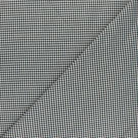 Polyviscose elastane fabric - black Oxford x 10cm