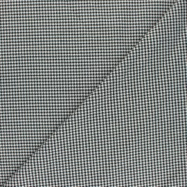 Tissu polyviscose élasthanne Oxford - noir x 10cm
