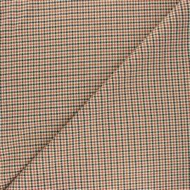 Polyviscose elastane fabric - camel Oxford x 10cm