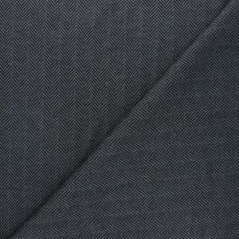 Tissu maille polyviscose Chevrons - gris x 10cm