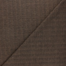 Tissu maille polyviscose Chevrons - ocre x 10cm