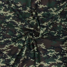 Swimsuit Lycra fabric - green Camouflage x 10cm