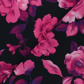 Tissu crêpe polyester Marta - rose x 10cm