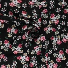 Rayon fabric - black Melanie x 10cm