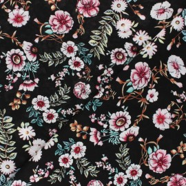 Rayon fabric - black Marina x 10cm