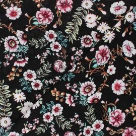 Tissu rayonne Marina - noir x 10cm