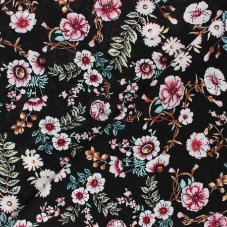 Rayon fabric - black Marina x 10cm