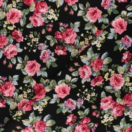 Tissu coton Francesca - noir x 10cm