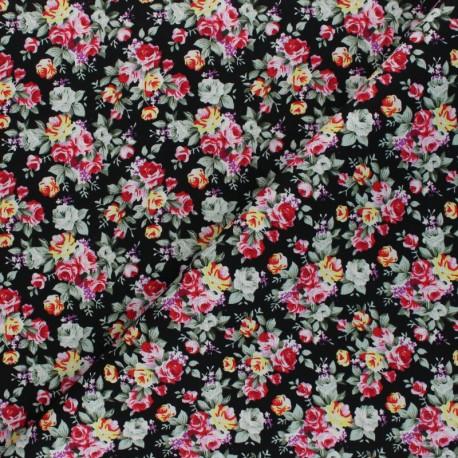 Tissu coton Monica - noir x 10cm