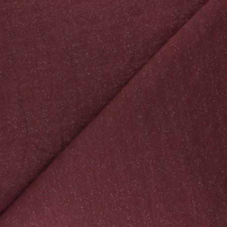 Mind the Maker Mottled Sweatshirt fabric - grape purple x 10 cm