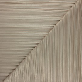 Pleated Polyester Fabric - beige Florence x 10cm
