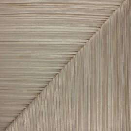 Tissu polyester plissé pailleté Florence - beige x 10cm