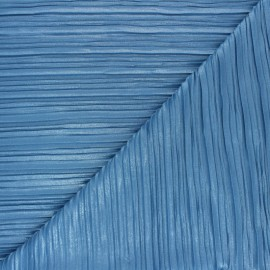 Pleated Polyester Fabric - blue Florence x 10cm