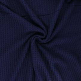 Tissu Mind the Maker maille gaufrée viscose - bleu marine x 10 cm