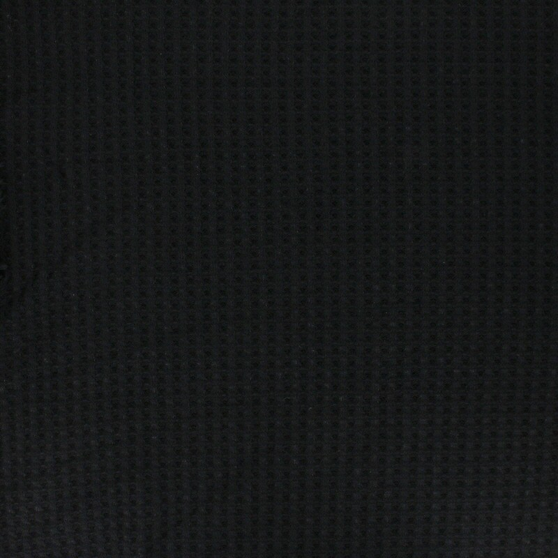 ECRU AND BLACK SMALL SQUARED VISCOSE//POLYESTER FABRIC-SOLD BY THE METER