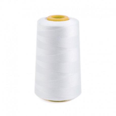 Oeko-tex® sewing thread cone 5000m 100% polyester - white