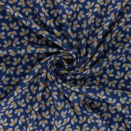 Viscose Fabric - blue Albi x 10cm
