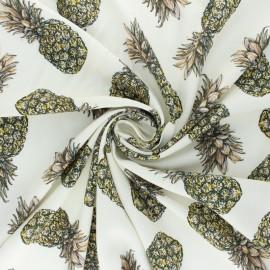 Tissu viscose Guadeloupe - écru x 10cm