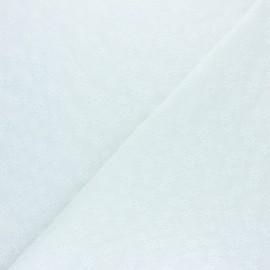 Tissu voile de coton brodé Alice - blanc x 10cm