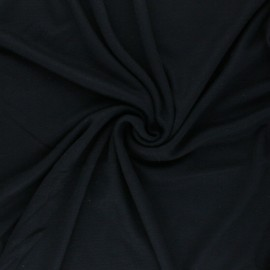Tissu Mind the Maker Viscose interlock - bleu marine x 10cm