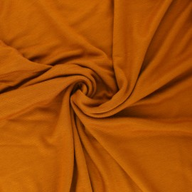 Mind the maker interlock Viscose fabric - gold curry x 10cm