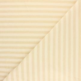 Tissu maille jersey rayé lurex Dolly - Crème x 10cm