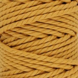 Cotton macramé cord - ochre x 1m