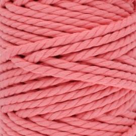 Cotton macramé cord - coral pink x 1m