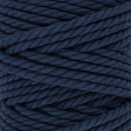 Cordon coton macramé - bleu marine x 1m