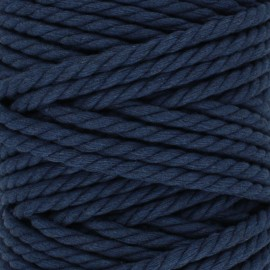 Cotton macramé cord - navy blue x 1m