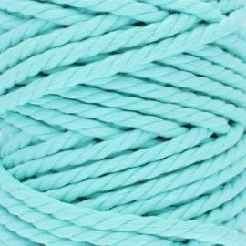 Cordon coton macramé - bleu aqua x 1m