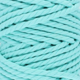 Cotton macramé cord - aqua blue x 1m