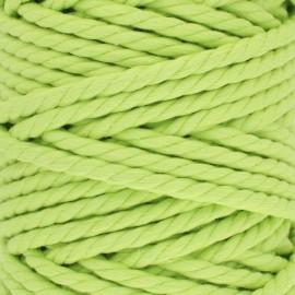 Cordon coton macramé - vert anis x 1m