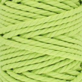Cotton macramé cord - anise green x 1m