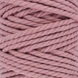 Cordon coton macramé - bois de rose x 1m