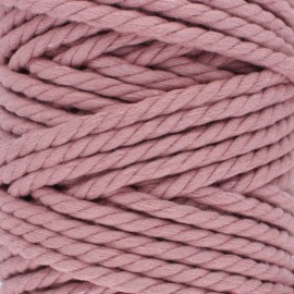 Cotton macramé cord - rosewood x 1m