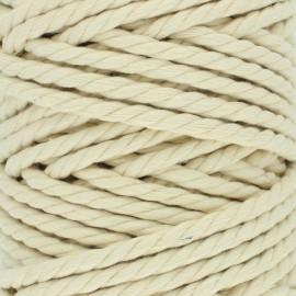 Cordon coton macramé - Ivoire x 1m