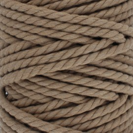Cotton macramé cord - hazelnut x 1m