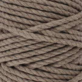 Cordon coton macramé - Châtaigne x 1m