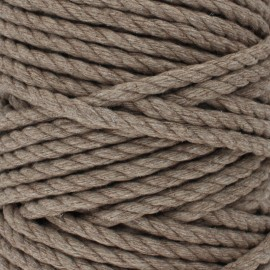 Cotton macramé cord - chestnut x 1m