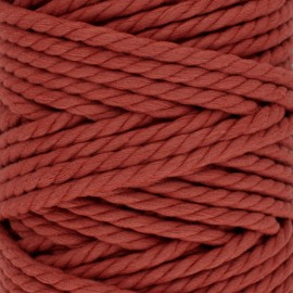 Cotton macramé cord - terracotta x 1m