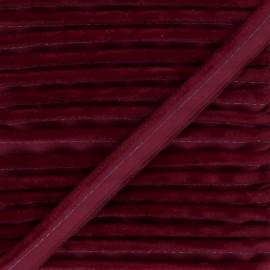 Passepoil velours Hilda - Bordeaux x 1m