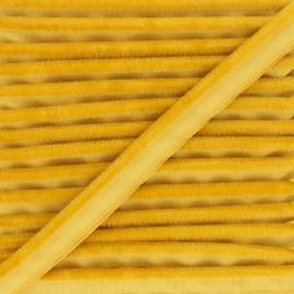 Velvet Piping - yellow Hilda x 1m