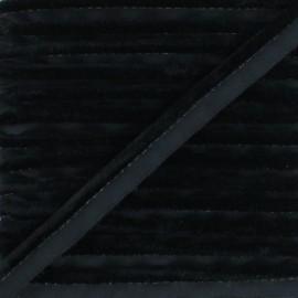 Passepoil velours Hilda - Noir x 1m