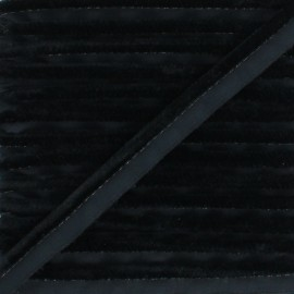 Velvet Piping - black Hilda x 1m