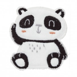 Thermocollant Panda assis  - blanc