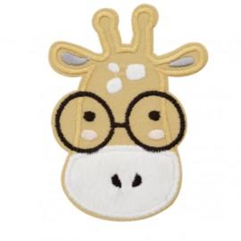 Gigi the giraffe iron-on patch - ochre